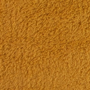Sherpa plush fabric - Mustard