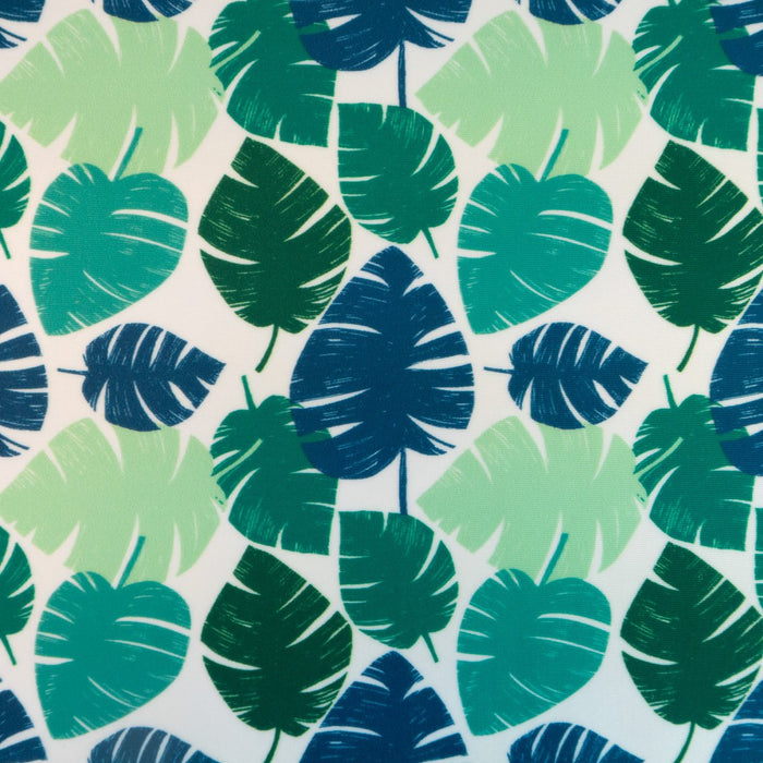 Lycra / swimsuit fabric - Palmes - Green