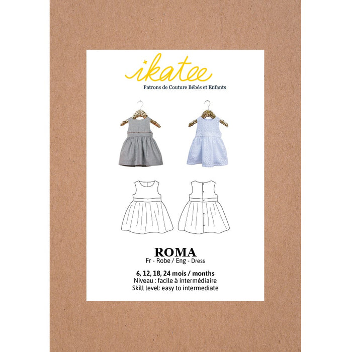 ROMA Dress - Baby Girl 6-24M - Paper Sewing Pattern