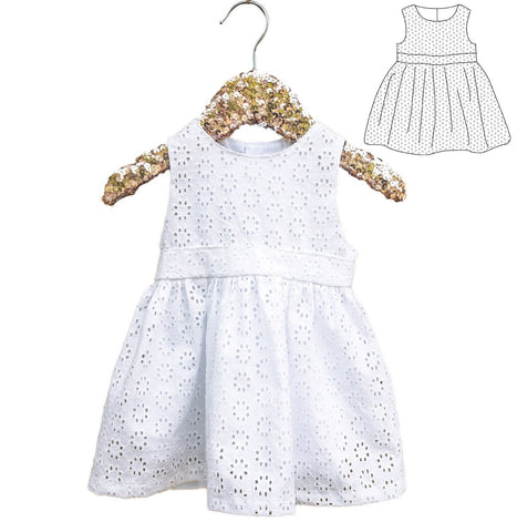Roma baby girl dress pattern