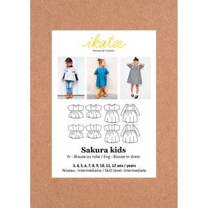 Sakura Kids Blouse/dress - 3/12 - Paper Sewing Pattern