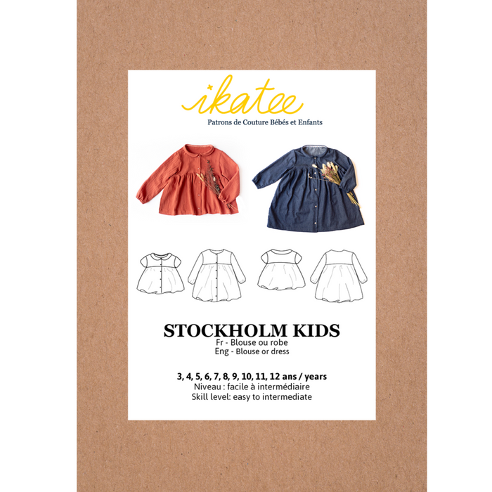 STOCKHOLM Kids blouse / dress - Girl 3/12Y - Paper Sewing Pattern