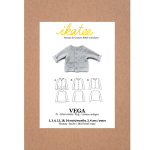 VEGA newborn fleece vest - Baby 1M/4Y- Paper Sewing Pattern
