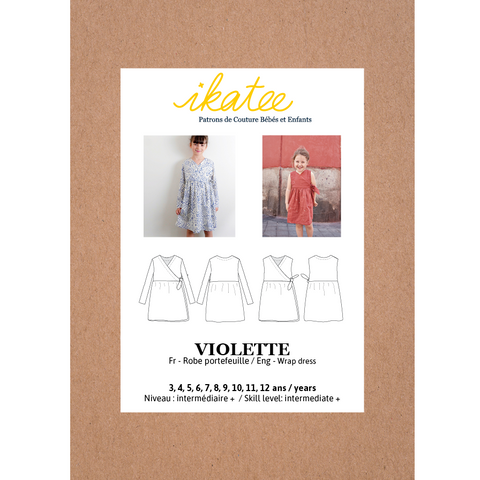 VIOLETTE dress - Girl 3/12Y - Paper Sewing Pattern