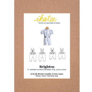 BRIGHTON pants/shorty with shoulder straps - Baby 6M/4Y- Paper Sewing Pattern