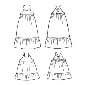 LENA Dress - Girl 3/12 - Paper Sewing Pattern