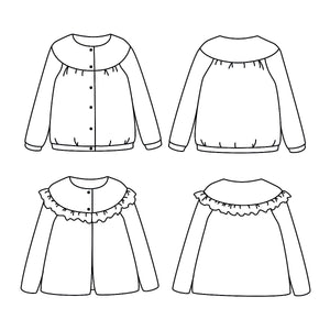 IRMA Cardigan or thin vest  -Girl 3/12- PDF Sewing Pattern