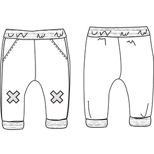 BARCELONA Jogpants - Baby Boy - PDF Sewing Pattern