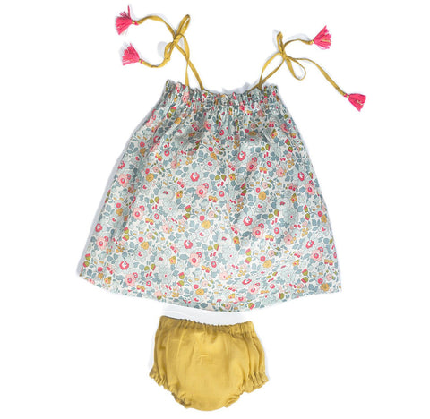 Portofino 2 Piece Dress & Bloomer - Baby Girl - PDF Sewing Pattern