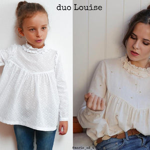 Duo LOUISE Girl + Mum - blouse & dress - PDF Sewing Patterns