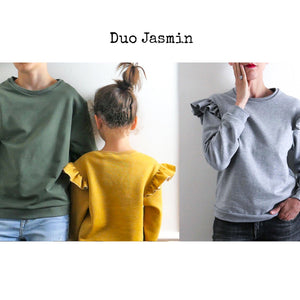 Duo JASMIN -sweatshirt/dress -kids and Mum-PDF Sewing Patterns