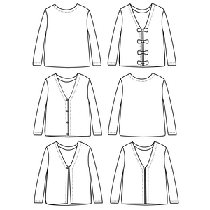 MASHA Mum cardigan/sweater - 34/46 - Paper Sewing Pattern