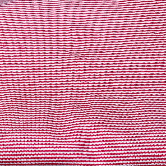 Stretch Jersey - Micro Stripe 1mm - Red/White
