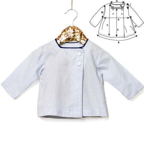 Pollux square neckline Blouse - Newborn - PDF Sewing Pattern