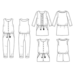 MARIEKE Mum- Jumpsuit, playsuit & dress - Women 34-46 - PDF Sewing Pattern