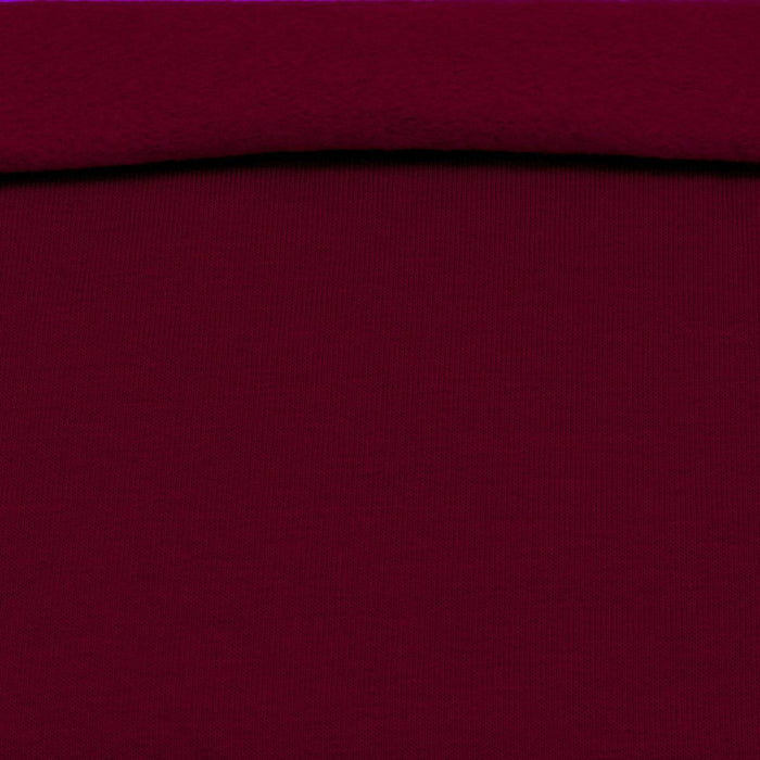 Organic Fleece GOTS - Bordeaux