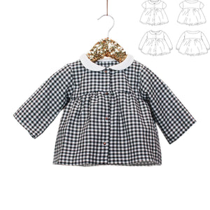 STOCKHOLM - blouse & dress - Baby Girl 6M/4Y - Paper Sewing Pattern