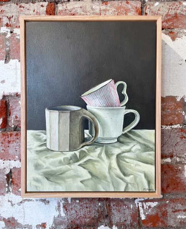Cups On Linen - Michelle Kettle