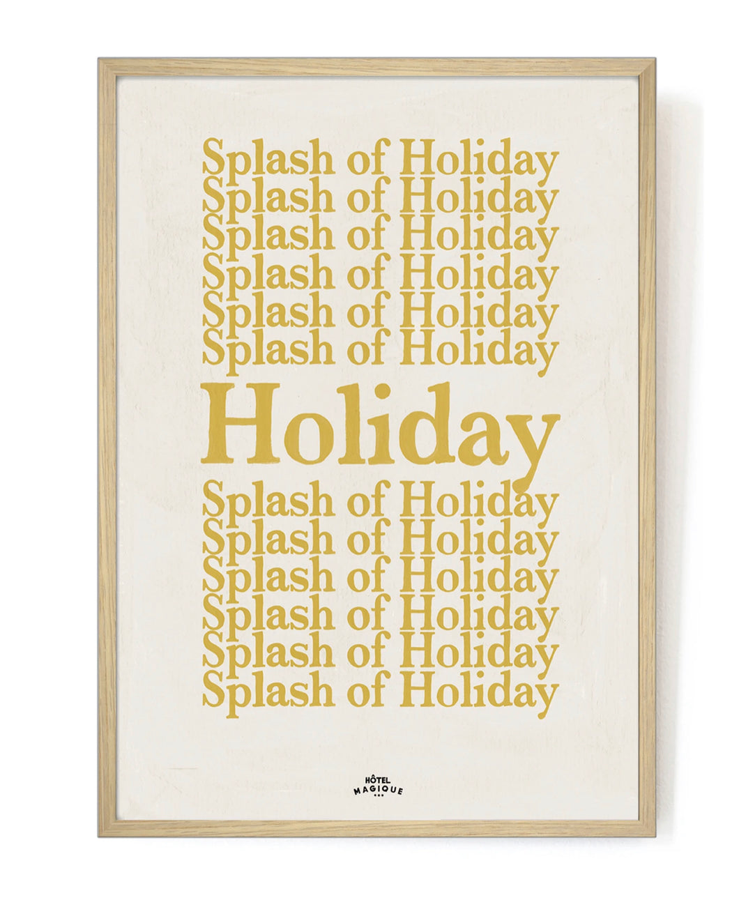 Hotel Magique A Splash of Holiday Art Print