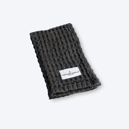 The Organic Company Charcoal Big Waffle Wash Cloth