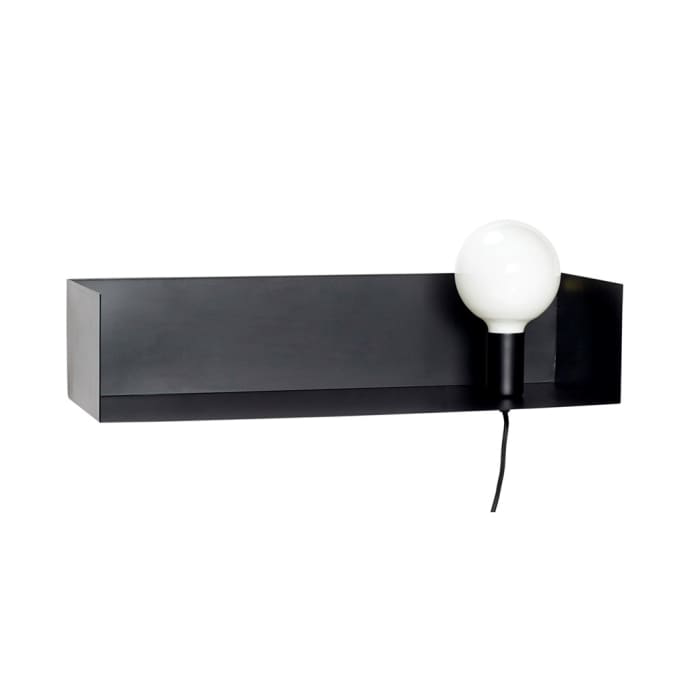 Black metal shelf light - BTS CONCEPT STORE