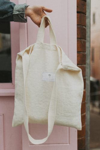 Kindred x Flourish Linen Tote Bag