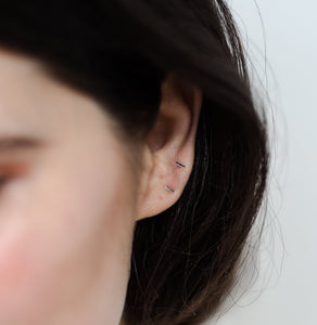 Lines + Current Mia Mini Bar Stud Earrings