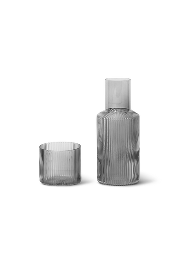 Grey Ripple Carafe & Glass Set - BTS CONCEPT STORE