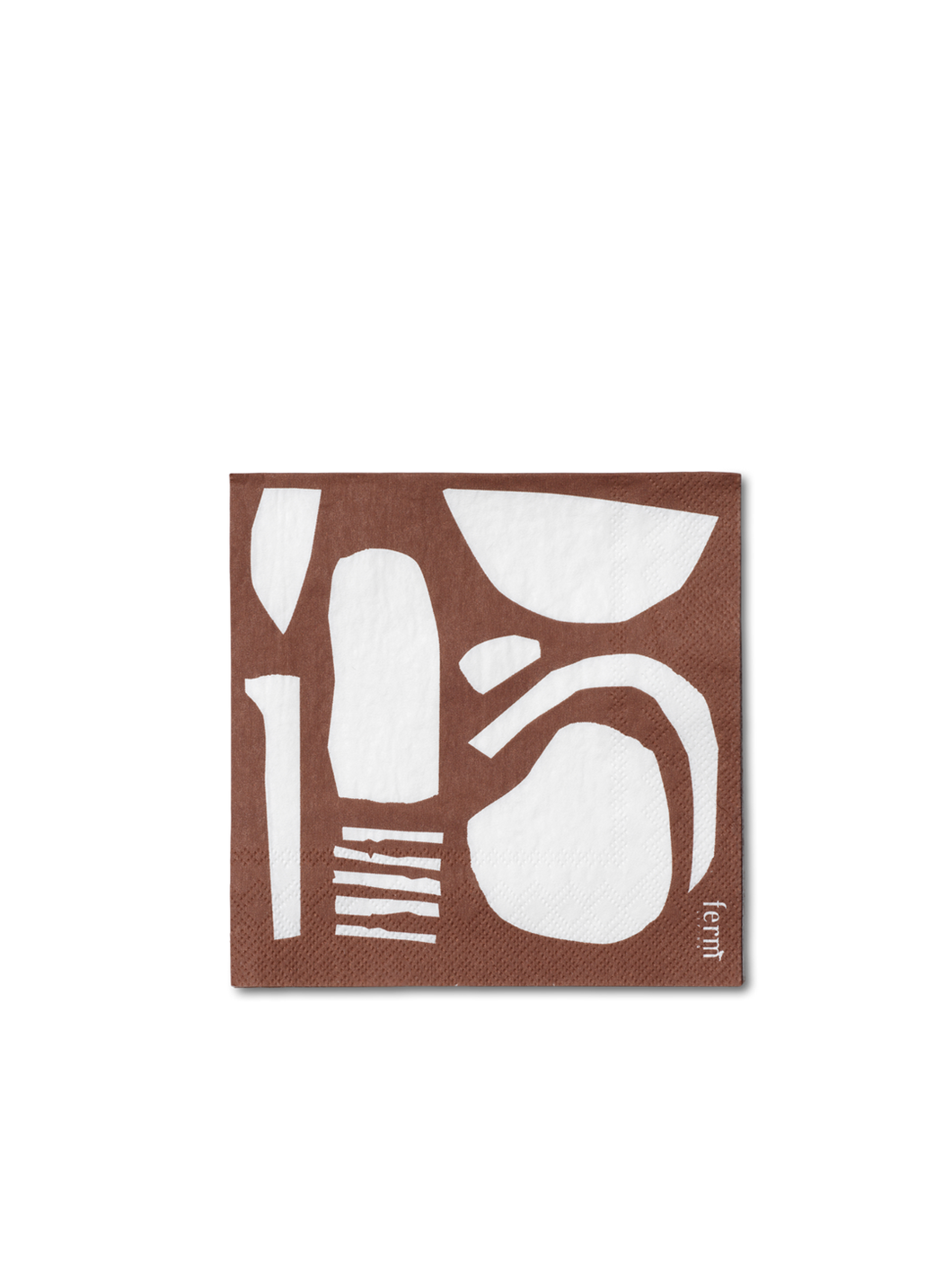 Abstract Rust Paper Napkins by Ferm Living