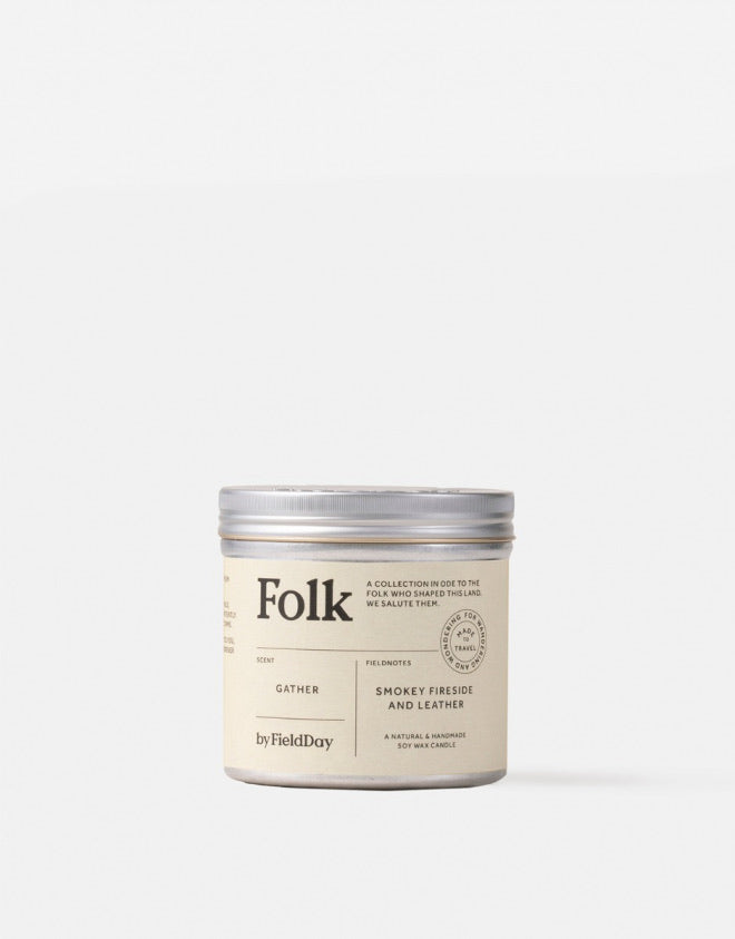 Folk Tin Candle: Gather