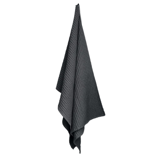 The Organic Company Charcoal Big Waffle Bath Towel