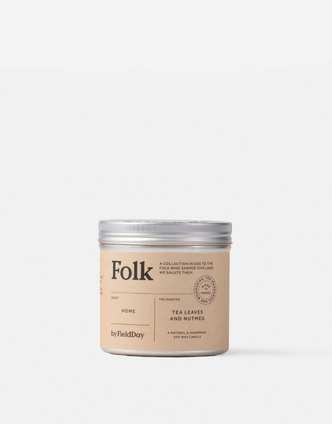 Folk Tin Candle: Home