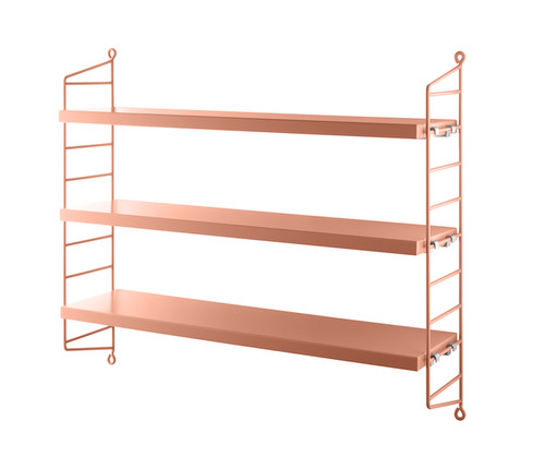 String Pocket Shelving Blush