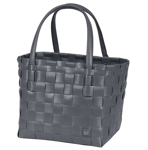 Colour Match Recycled Woven Shopper - Dark Grey
