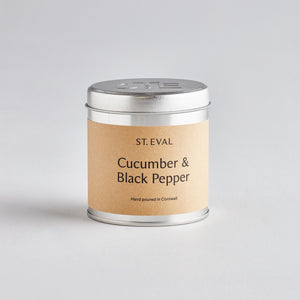 St Eval Cucumber + Black Pepper Tin Candle