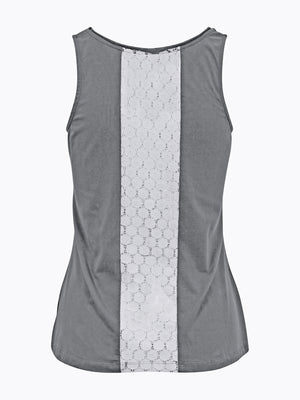 Contrast Chic Tank Grey