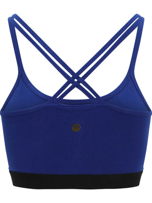 Royal Bruise Yoga Bra Blue