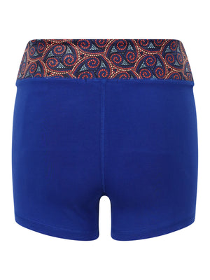 Warm Chakra Yoga Shorts Blue