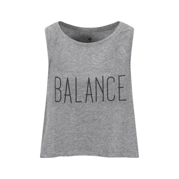 Steady Balance Crop Grey