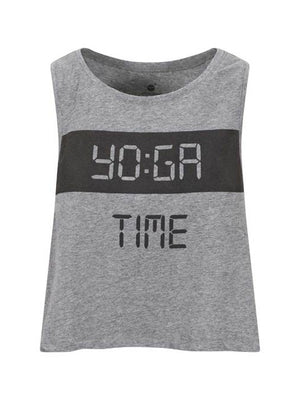 YO:GA Time Crop Grey