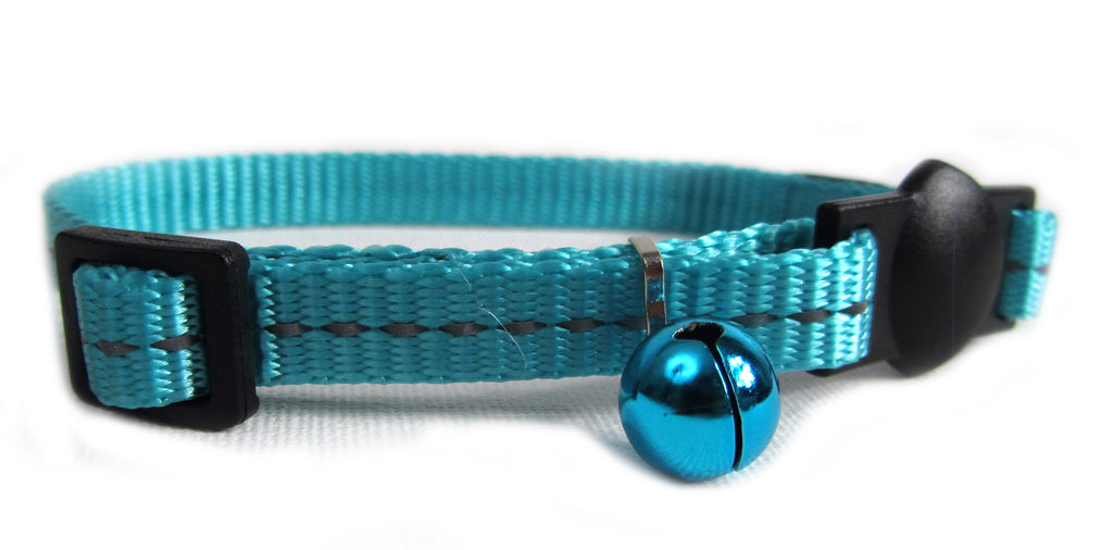 Cat's Life Cat Collar (Turquoise) - Reflective, Super Soft, Nylon