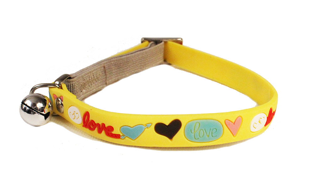 Cat's Life PVC Yellow Cat Collar