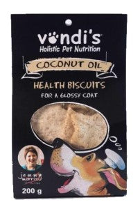 Vondi's Pet Biscuits: Coconut for Glossy Coat