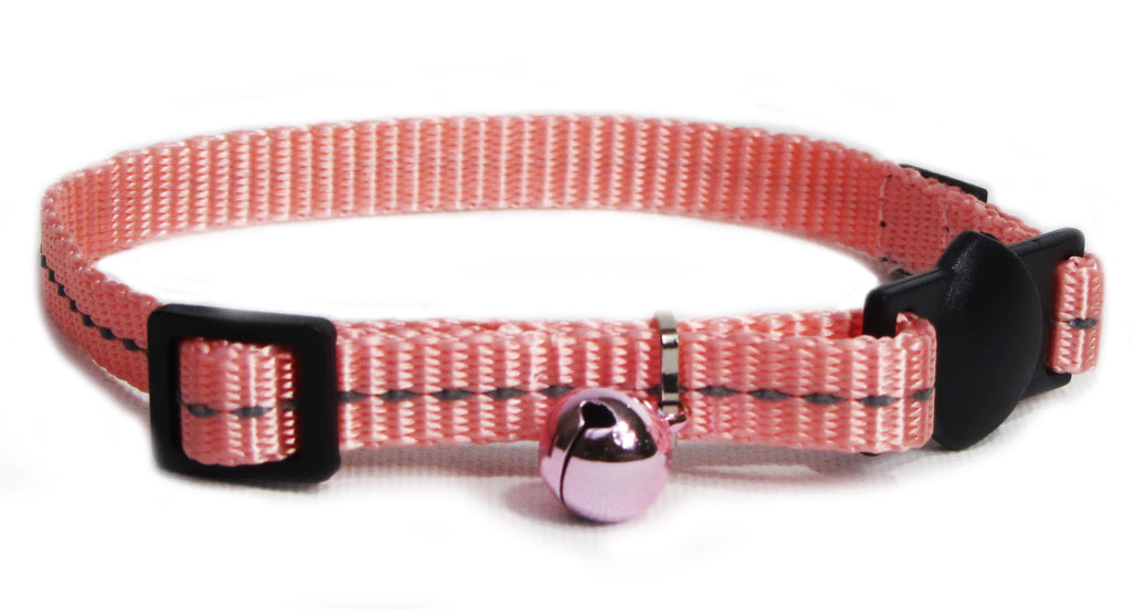 Cat's Life Cat Collar (Pink) - Reflective, Super Soft, Nylon