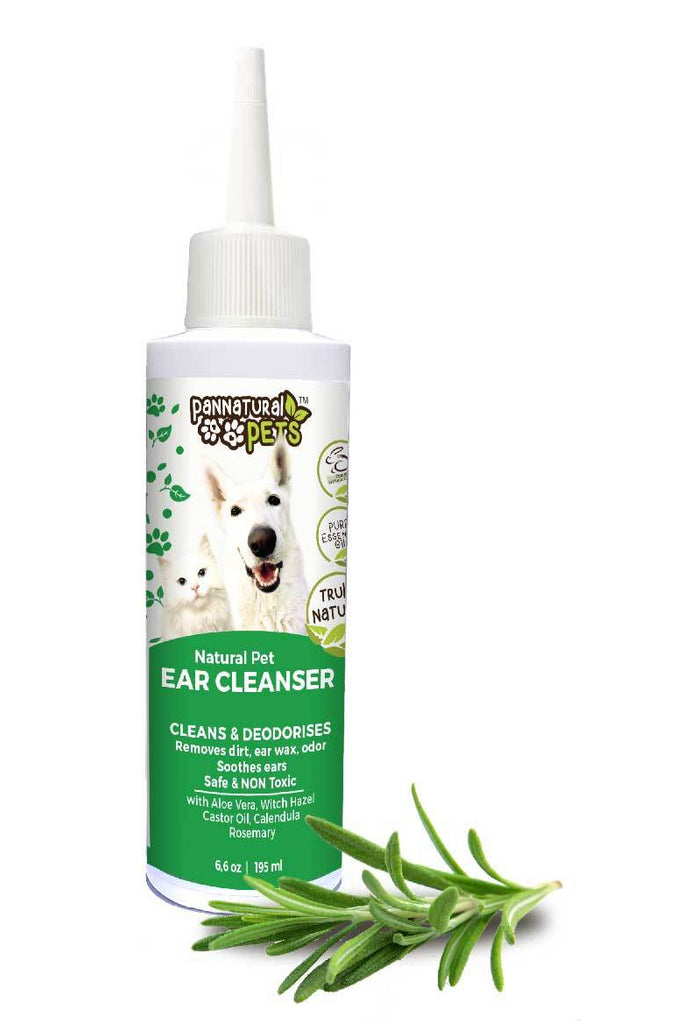 Natura Pet All Natural Dog & Cat Ear Cleanser Prevents Infection & Cleans Ears