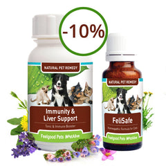 Savings Combo! Immunity & Liver Support Plus FeliSafe for Cat 'Flu  (SAVE 10%!)