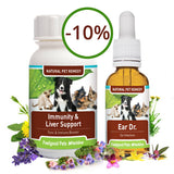 Immunity & Liver Support plus Ear Dr - natural help for dog and cat ear infections