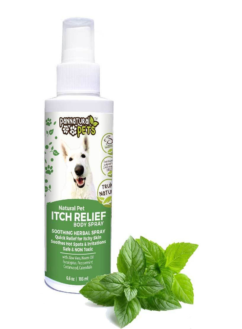 natural organic itch spray soothe pets