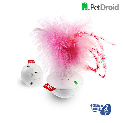 Pet Droid Wobble Feather Motion Toy for Cats