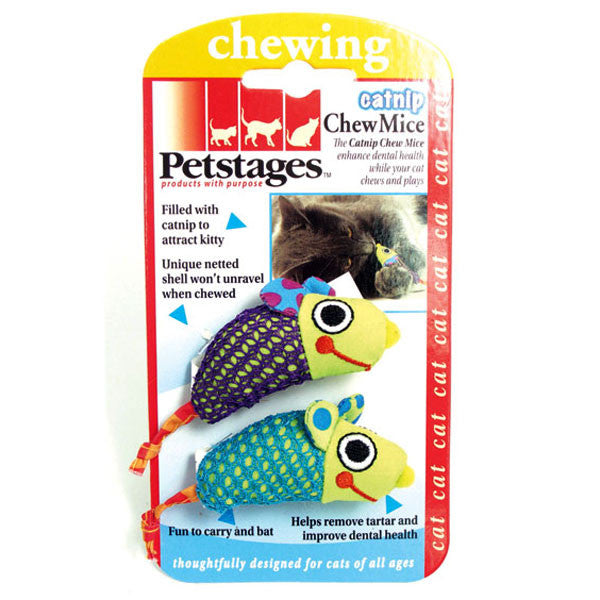 Petstages Catnip Chew Mice - Fun AND good for dental health too!